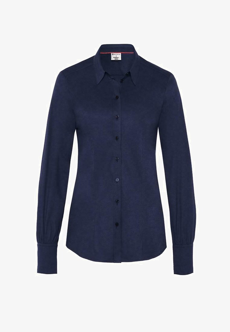 DESOTO - Button-down blouse - solid midnight blue