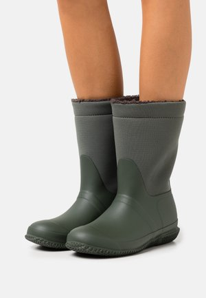 ROLL TOP VEGAN  - Winter boots - dark olive