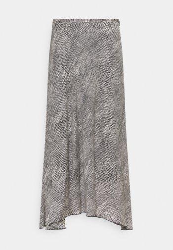 ALINE SKIRT - A-line skirt - black/white