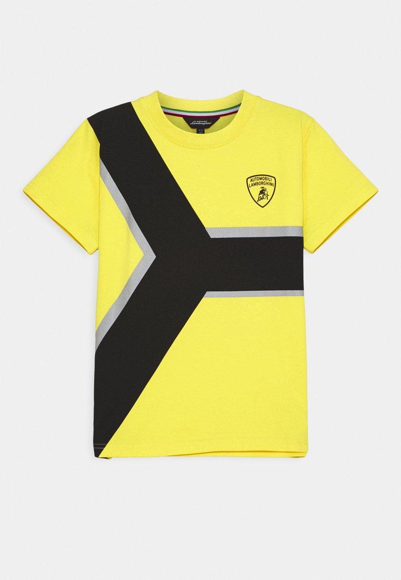 Automobili Lamborghini Kidswear - CONTRAST Y - Print T-shirt - yellow/tenerife