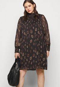 Vero Moda Curve - VMFANT O-NECK DRESS - Day dress - phantom - 3