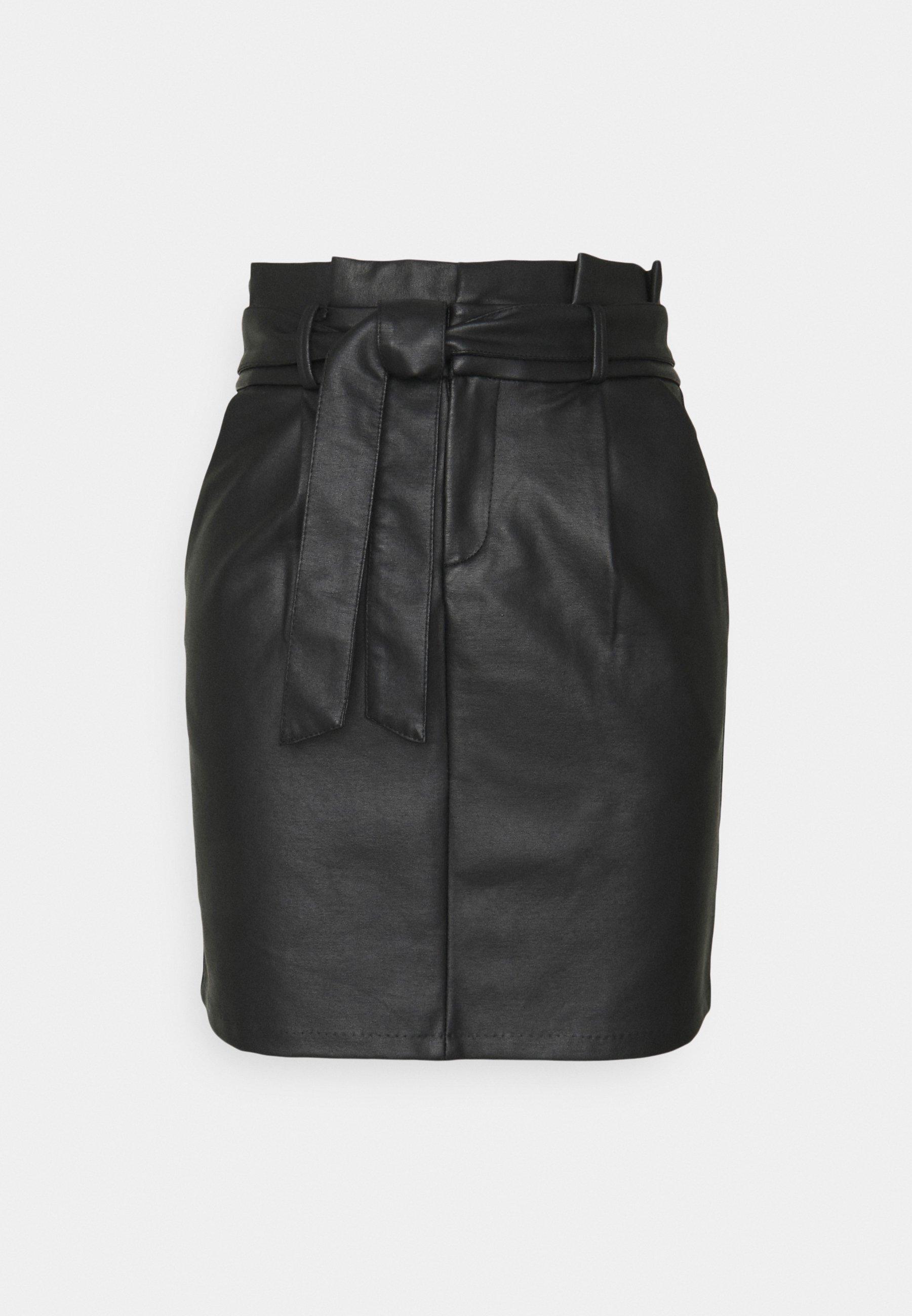 Women VMEVA PAPERBAG COATED SKIRT - Mini skirt