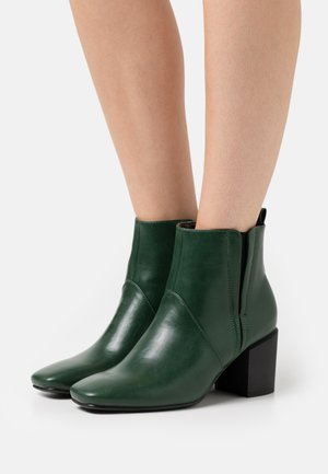 Kotníkové boty - forest green