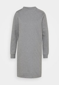 Calvin Klein - FUNNEL NECK LOGO DRESS - Shift dress - mid grey heather