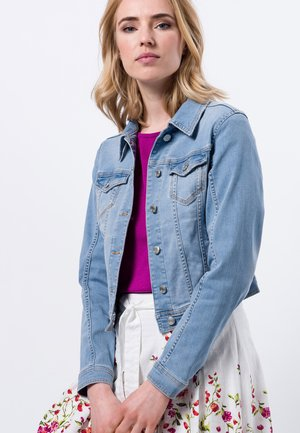 Denim jacket - light blue stone wash