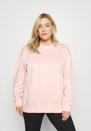 CREW PLUS - Sweater - pale coral/white