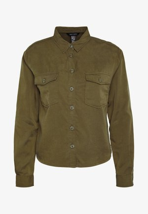 PATCH POCKET CROP - Skjorte - dark khaki