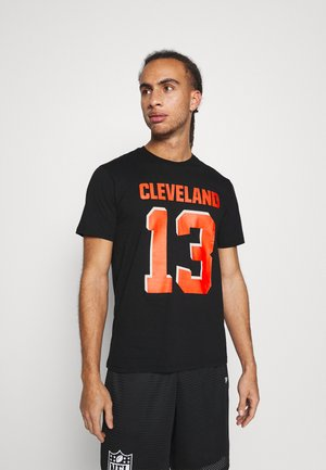 NFL CLEVELAND BROWNS ICONIC NAME & NUMBER GRAPHIC ODELL - Article de supporter - black