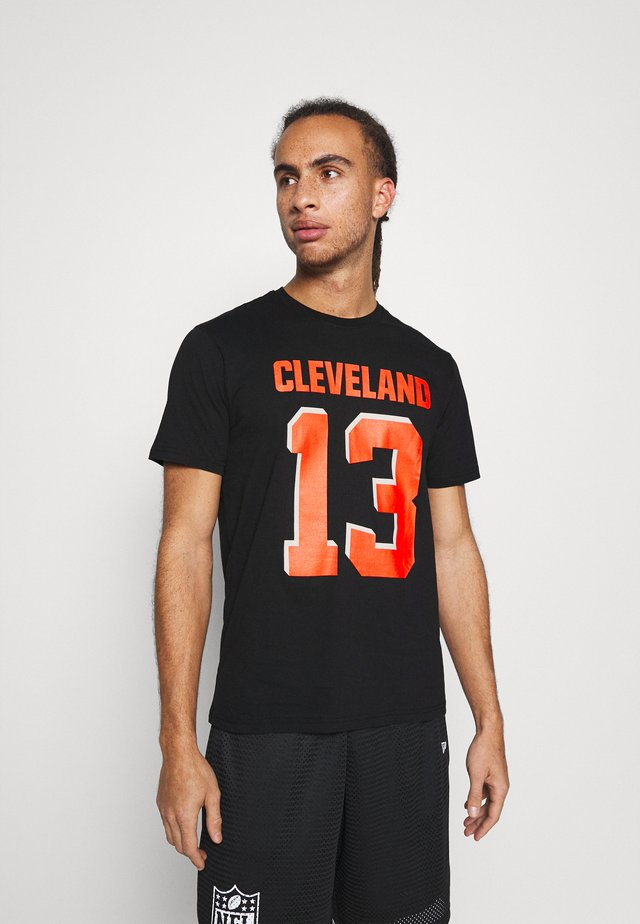 NFL CLEVELAND BROWNS ICONIC NAME & NUMBER GRAPHIC ODELL - Club wear - black