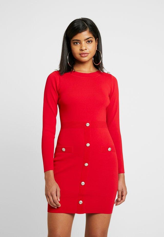 Vestido de tubo - ruby