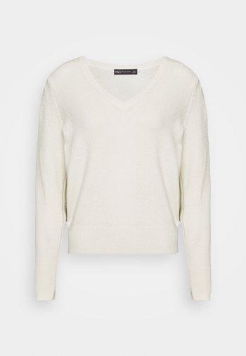 VEE JUMPER - Sweter - beige