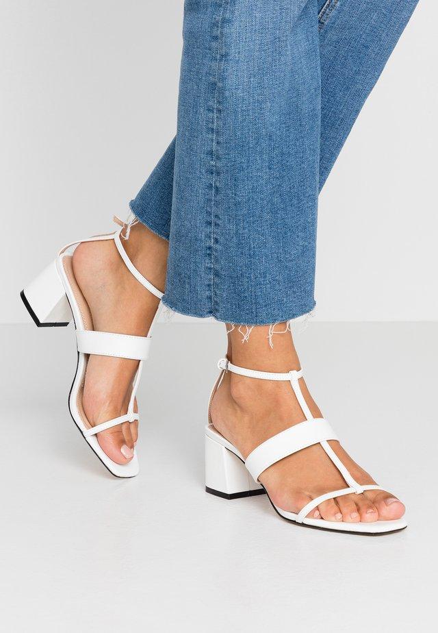 RIBBON - Sandals - white