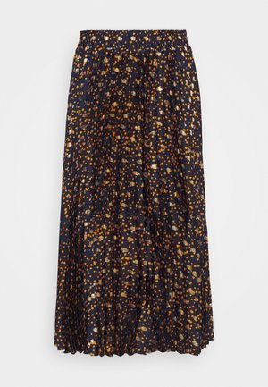 YASSKYRA PLEATED MIDI SKIRT - Pleated skirt - sky captain/gold