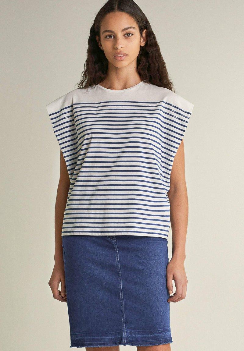Salsa - SAMARA  - Print T-shirt - blau