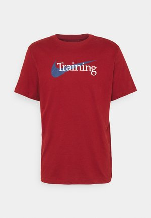 TEE TRAINING - Print T-shirt - dark cayenne