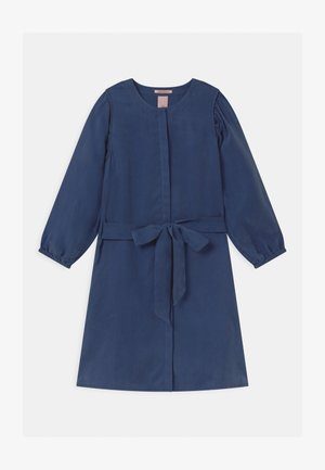 DRAPEY VOLUMINOUS SLEEVES - Shirt dress - ocean blue