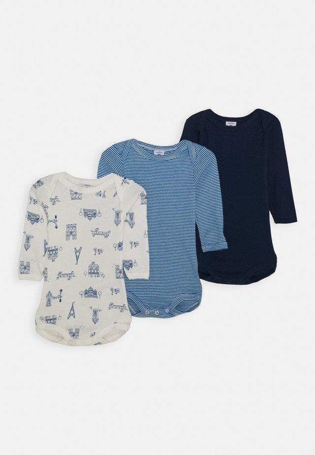 BABY 3 PACK UNISEX - Body - blue/white