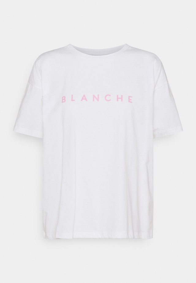 MAIN LIGHT - T-Shirt print - white/pink
