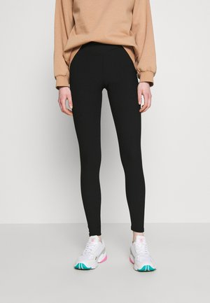 CROSS WAIST - Leggings - Trousers - black