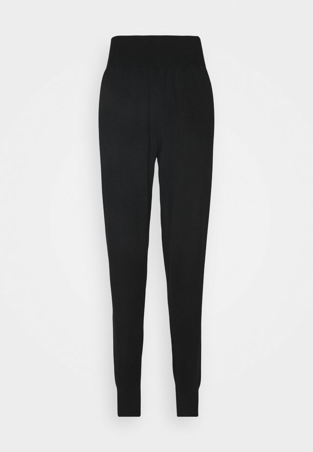 SLIM FIT HIGH WAIST JOGGER - Tracksuit bottoms - black