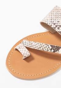 Topshop Wide Fit - WIDE FIT HOPE  - T-bar sandals - natural - 2