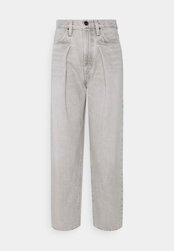 THE PLEAT CURVE - Straight leg jeans - wylam (lt grey)