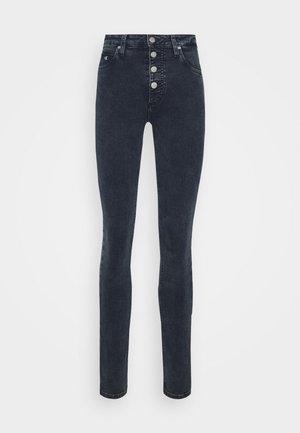 HIGH RISE SKINNY - Jeans Skinny Fit - blue grey shank