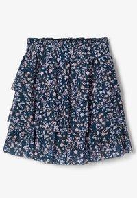 Name it - BLUMENPRINT  - A-line skirt - darkest spruce - 1