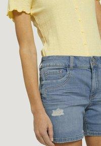 TOM TAILOR DENIM - CAJSA - Denim shorts - used light stone blue denim - 4