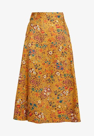 PRINTED SKIRT - Áčková sukně - golden