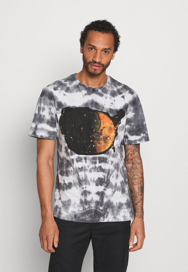 SPACE TIE DYE - T-shirts print - black