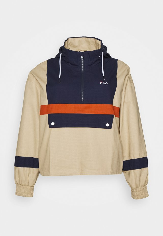 WAVERLY BLOCKED ANORAK - Training jacket - irish cream/black iris/cinnamon stick
