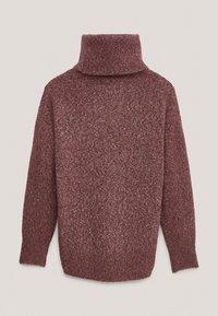 Massimo Dutti - PULLOVER MIT WEITEM AUSSCHNITT - Sweater - bordeaux - 4
