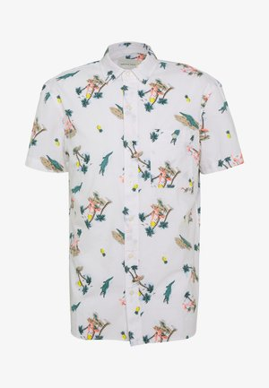 OXFORD TROPICAL ISLAND PATTERN - Shirt - white