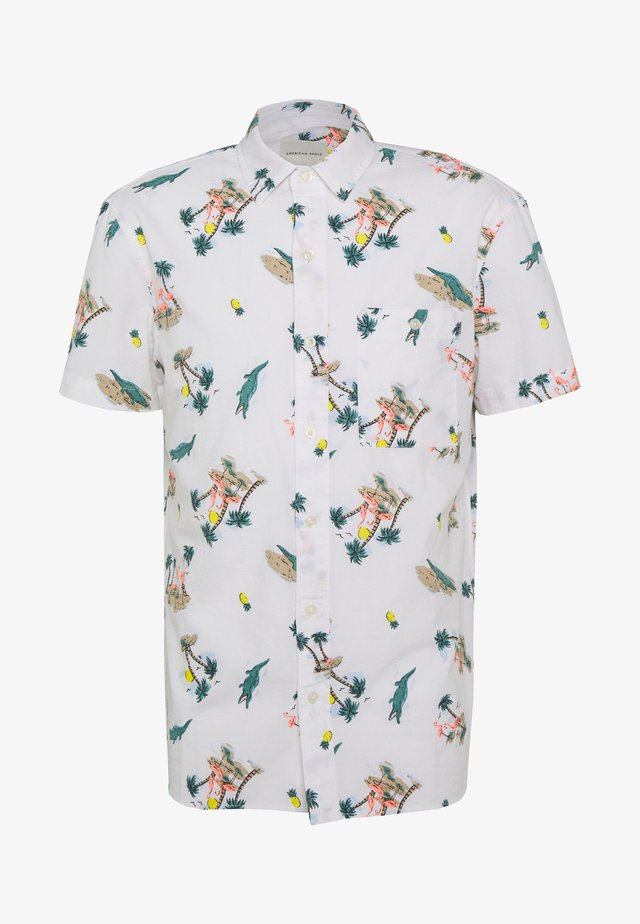 OXFORD TROPICAL ISLAND PATTERN - Shirt - white