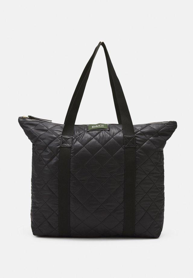 GWENETH CHECKY BAG - Cabas - black