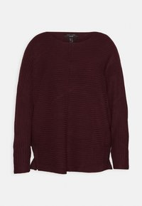 New Look Curves - EXPOSED SEAM CASH BAWTING - Jumper - dark burgundy - 3