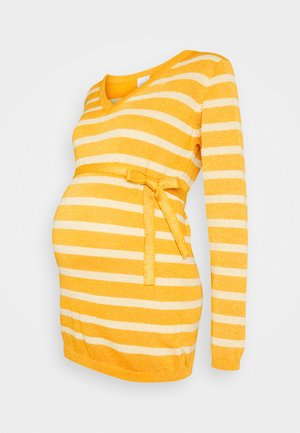MLBLACK V-NECK - Jumper - mineral yellow/sunlight