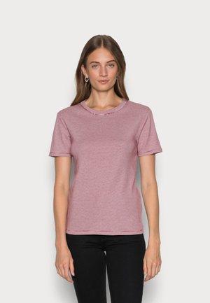 TEE - Print T-shirt - sangria/marshmallow
