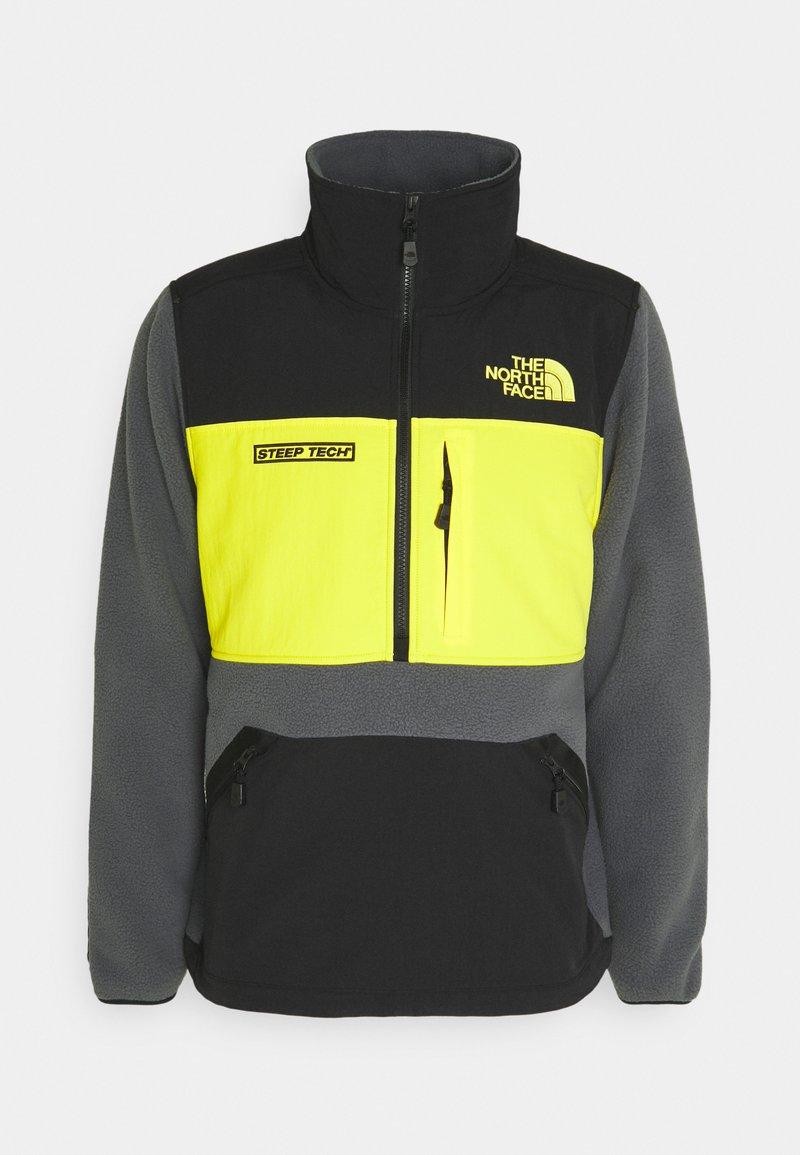 The North Face - STEEP TECH HALF UNISEX - Fleecetröja - vanadis grey/ black/lightning yellow