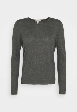 BASIC NECK - Jumper - dark grey