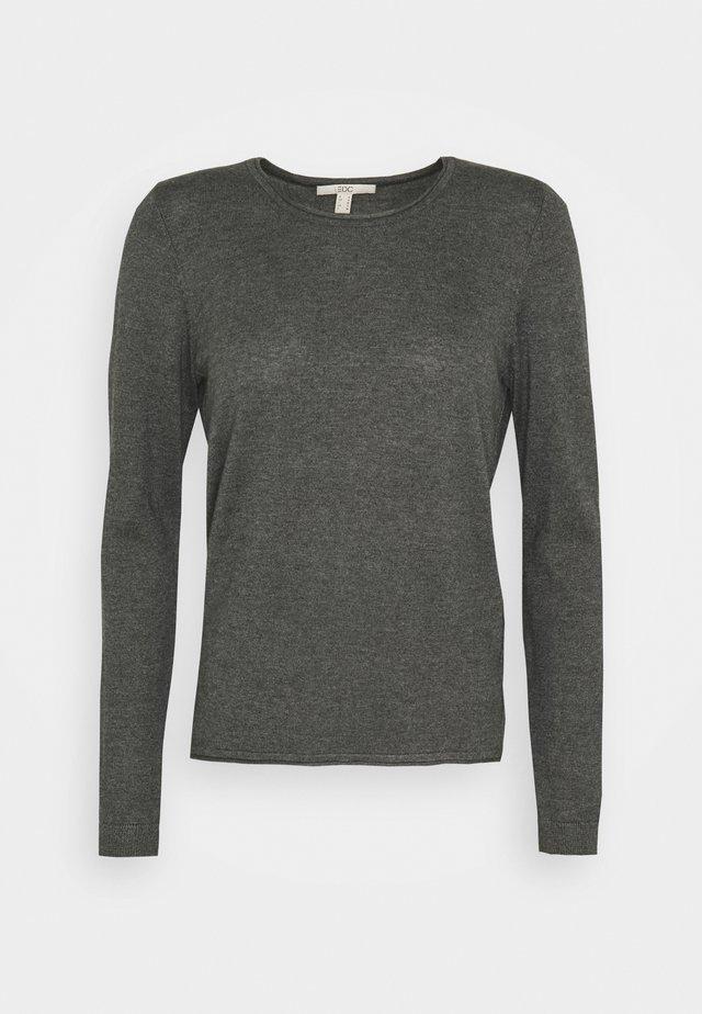 BASIC NECK - Jumper - dark grey