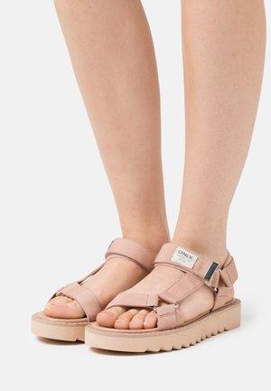ONLMALU CHUNKY WRAP  - Sandaalit nilkkaremmillä - light pink