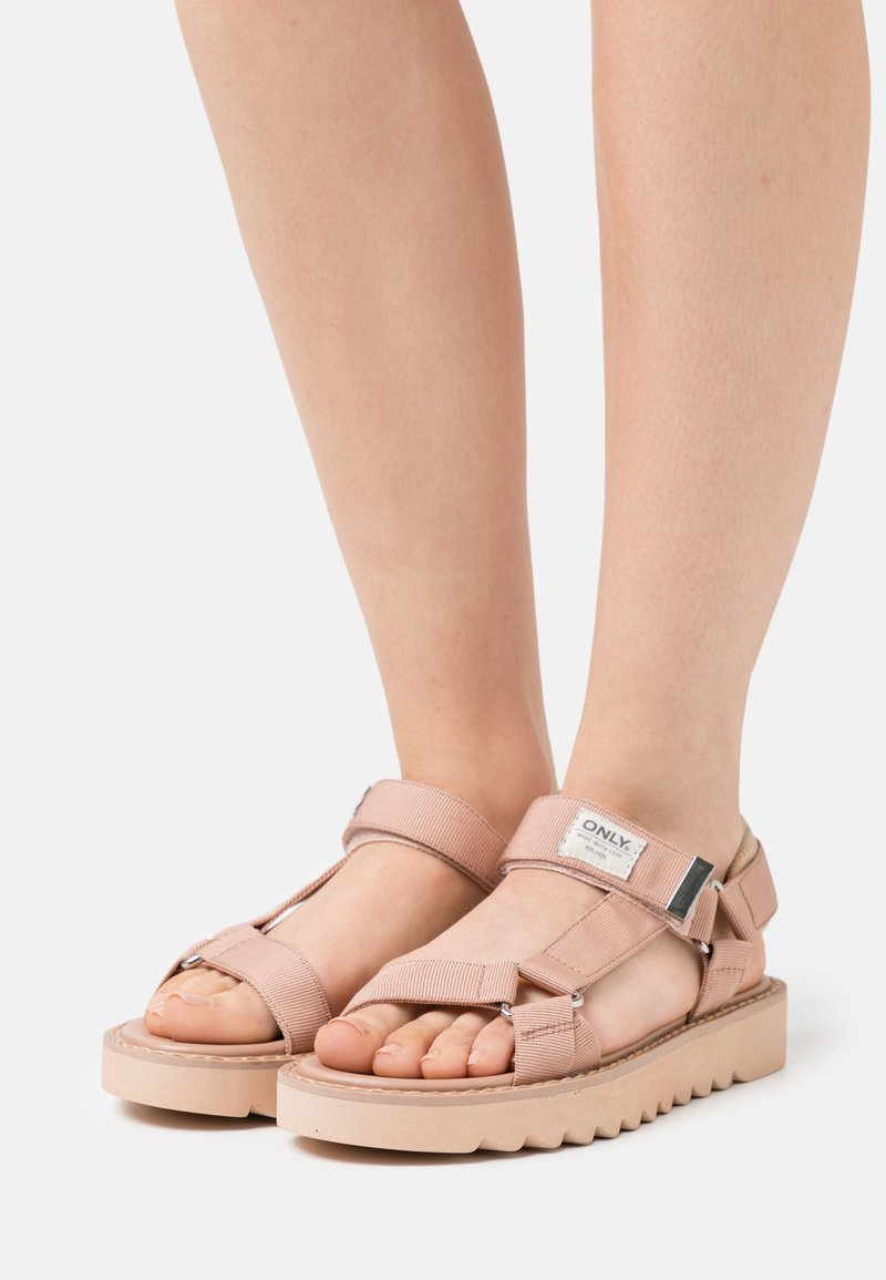 ONLY SHOES - ONLMALU CHUNKY WRAP  - Sandals - light pink