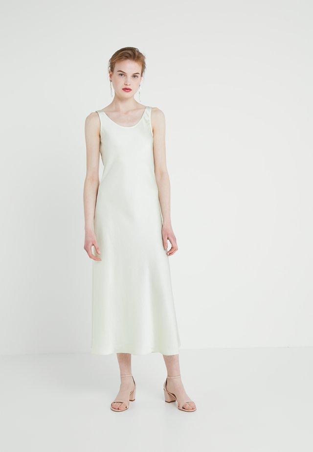 LONG SLIP DRESS - Denní šaty - pale lime