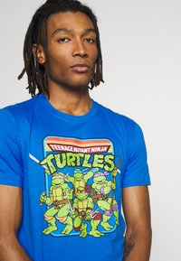 Bioworld - TEENAGE MUTANT NINJA TURTLES TEE - T-shirts print - heather blue - 3