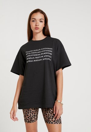 Print T-shirt - anthracite