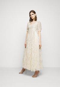 Needle & Thread - SEQUIN GINGHAM ANKLE GOWN - Společenské šaty - champagne/blue - 1