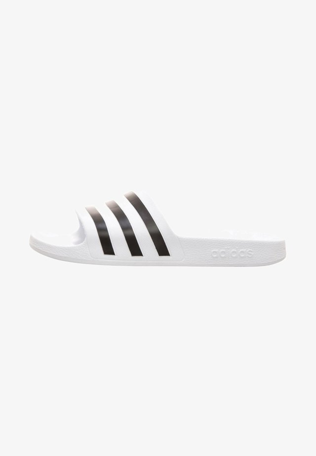AQUA ADILETTE - Pool slides - white/black