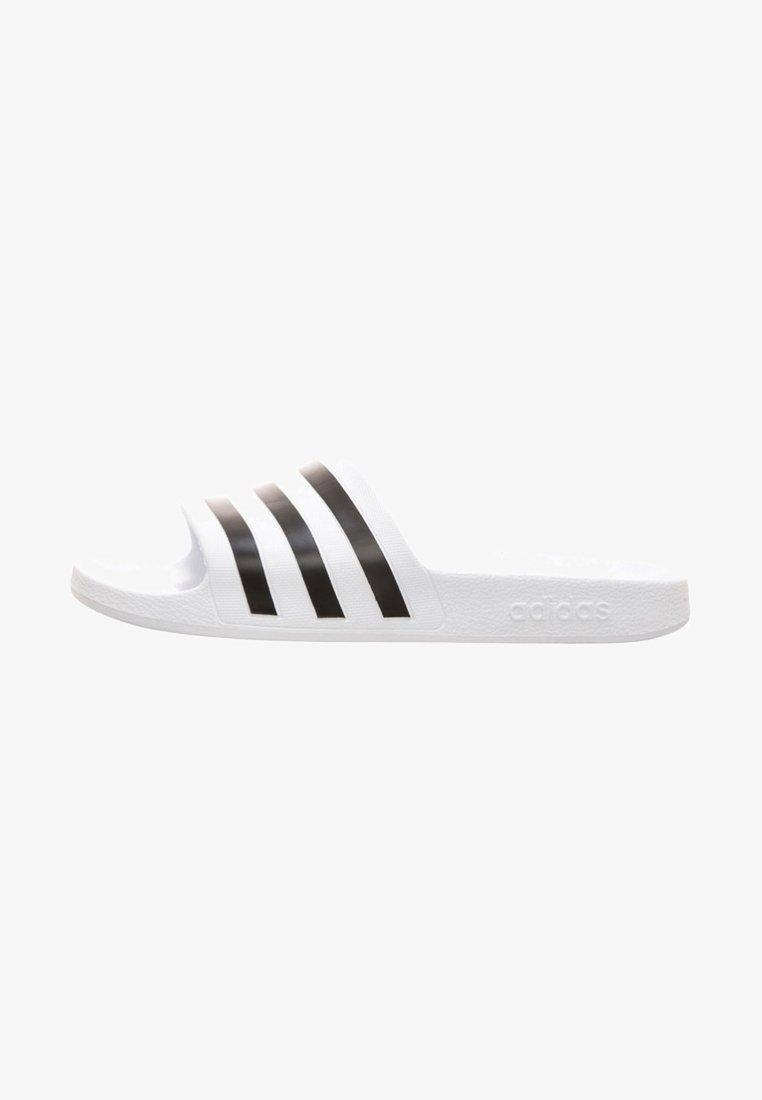 adidas Performance - AQUA ADILETTE - Pool slides - white/black